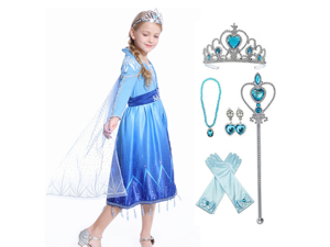 Elsa Act 2 Halloween Costume for Girls with Accessories