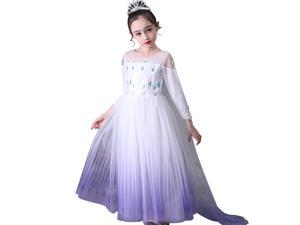 Princess Snow Queen Act 2 Costumes,Girls Princess Dress Up Costumes Halloween Christmas Fancy Party Dresses