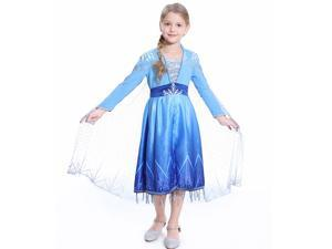 Elsa Act 2 Halloween Costume for Girls, Frozen 2
