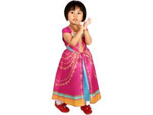 Aladdin Pink Jasmine Costume for Children,Girls Princess Costume Toddler Christmas Party Dress Up