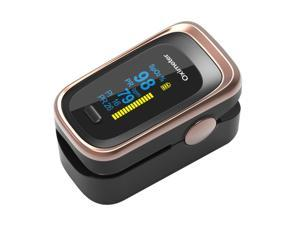 Pulse Oximeter Fingertip Blood Oxygen Saturation Monitor Fingertip (SpO2)  Heart Rate Monitor | Dual Color OLED Display | Portable Carry Case, Lanyard
