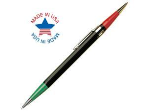 Autopoint Twinpoint Pencil 0.9mm Lead (Red/Green), Black Barrel