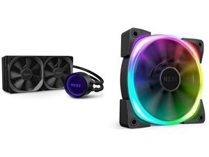 NZXT Kraken X63 280mm - RL-KRX63-01 - AIO RGB CPU Liquid Cooler & H510 Elite - CA-H510E-W1 - Premium Mid-Tower ATX Case PC Gaming Case - Dual-Tempered Glass Panel - White/Black
