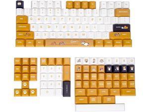 Custom Keycaps - Full 146 Key Set, Dye Sublimation PBT Keycap Set, Cherry Profile, English (US) Layout Suitable for 60%,65%,75% and 100% Form Factor & Custom Mechanical Keyboards (Corgi)