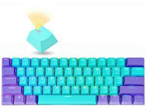 GTSP Backlit Keycaps for 60 Percent Keyboard, RK61 PBT Keycaps OEM Profile with Key Puller for Cherry MX Gateron Kailh Switches GK61/Ducky One 2 Mini/Anne Pro 2 Gaming Keyboard (Zilian-2)