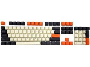 108 Keys Big Carbon Edition Keycaps Thick PBT Key Cap OEM for Cherry MX Mechanical Keyboard Gaming (Top Printed)