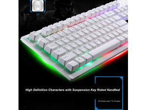 USB Wired Mechanical Keyboard Colorful Backlight Gaming Keyboard RGB for PC Computer Gamer Waterproof Desktop 104 Keys