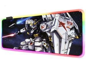 Mouse Pads Anime Gundam Computer Keyboard Mat RGB Robot LED Glowing Gaming Luminous Pad for PC Game (Size_4) 900X400X4Mm
