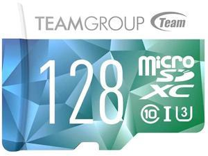 TEAMGROUP Color Card II 128GB MicroSD UHS-I U3 High Speed Flash Memory Card with Adapter for 4K UHD Camera Recording Shooting, Nintendo Handheld Console, Smartphone (TCIIUSXH128GU352)