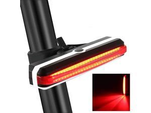 Bike Tail Light USB Rechargeable Tail Light Waterproof Safety Warning Bicycle Tail Light, Ultra Bright LED 150ft Light Visibility 6 Modes,500mAh 6 hrs (Max) Easy Install on Mountain Bike