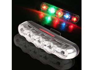Bike Tail Light Ultra Bright 5 Colorful LED Bike Rear Light Bicycle Strobe Warning Safety Light Waterproof Tail Light Fit Outdoor Camping 7 Modes