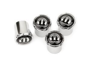 MOPAR Stem Air Caps Pack of 4 Silver ABS Plastic