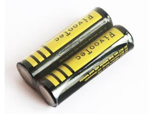 Fivootec Battery 18650 3000mAh Li-ion 3.7V Rechargeable Batteries Pack of 2