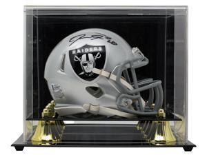 Josh Jacobs Signed Oakland Raiders Mini Speed Replica Helmet BAS w/ Display Case