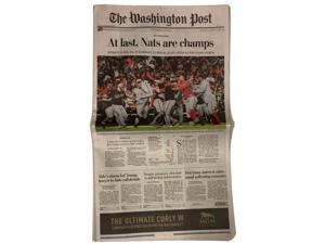 Washington Nationals World Series Champions 10/31 Washington Post Full Newspaper