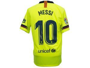 0365989b91a Lionel Messi Signed Nike Barcelona Away Soccer Jersey ...