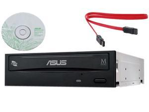 Asus Internal Desktop SATA 24x DVD RW CD DL MDisc DVD Burner Writer Drive + software + Copystars Sata data Cable UL Listed