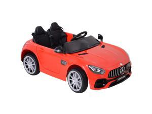 Aosom Licensed Kids Ride-On Car 12V with Remote Control, Suspension Wheel, Adjustable Speed, Red