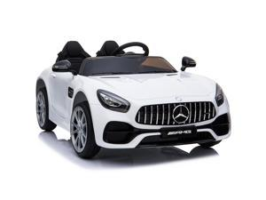 Aosom Licensed Kids Ride-On Car 12V with Remote Control, Suspension Wheel, Adjustable Speed, White