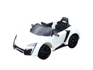 Aosom Ride On Car for Kids  6V Electric Ride-On Car with Parental Remote Control, 2 Speeds, LCD power indicator, Seat Belt (White)