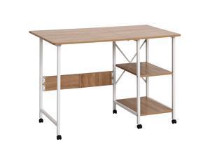 HOMCOM Foldable Computer Desk Multi-use Laptop Desk Writing Table, Portable Space Saving Compact Desk Folding Stroage Table