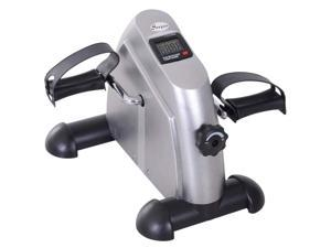 Soozier Portable Mini Pedal Exercise Bike Indoor Cycle Fitness Arm Leg w/ LCD Display, Silver