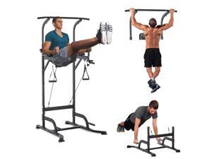 Soozier Multi-Function Power Tower Chin Up Bar Stand Dip Station Full Body Workout Training Fitness Equipment