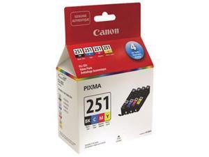 Canon CLI-251 Ink Cartridge - Black, Cyan, Magenta, Yellow
