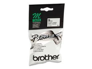 Brother Non-Laminated Label Tape Black on White 9mm