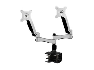 "Amer Networks Amr2ac Dual Monitor Articulating Clamp Mount - Supports two 32"" monitors, VESA compatable"