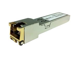 Cisco GLC-TE compatible SFP transceiver. 1000Base-TX, RJ-45 connector, 100m over copper. 100% compliant and functional and comply with Multi-Source Agreement (MSA) standards. TAA Compliant