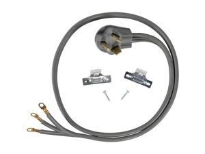 Certified Appliance Accessories 90-1022 3-Wire Closed-Eyelet 30-Amp Dryer Cord, 5ft