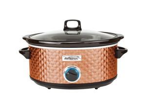Brentwood SC-157C Diamond Pattern Slow Cooker, 7 Quart - Copper