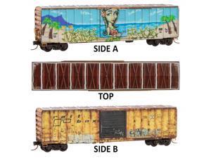 Micro-Trains MTL N-Scale 50ft Box Weathered//Elephant Graffiti Waterloo//CN #30071
