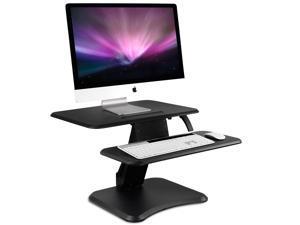 "Mount-It! Height Adjustable Standing Desk Converter   25"" Wide Desktop with Gas Spring"