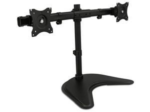 """Mount-It! Dual Monitor Stand   Fits Two 19""""-27"""" Computer Screens   VESA Compatible 75 100"""