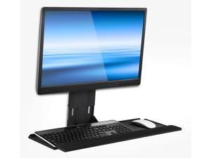 Mount-It! Monitor and Keyboard Wall Mount | Height Adjustable | 25 Inch Wide Platform with Mouse Pad