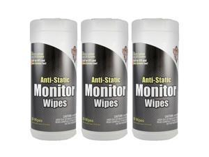 DUST-OFF (3 EA) ANTI STATIC MONITOR WIPES 80