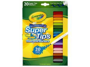 Washable Super Tips Markers, Broad/Fine Bullet Tip, Assorted Colors, 58-8106