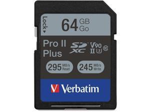 Verbatim Corporation 64GB PRO II PLUS 1900X SDXC Memory Card (99166)
