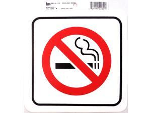 DURO 6 X 6 STICK-ON NO SMOKING DECAL - 12 PER PACK