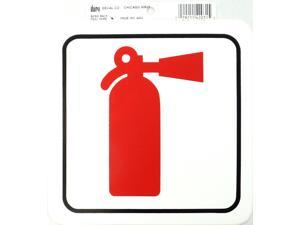 DURO 6 X 6 STICK-ON FIRE EXTINGUISHER DECAL - 12 PER PACK