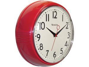 Westclox 32042R 9.5-Inch Retro 1950s Kitchen Wall Clock