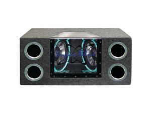 Pyramid Car Audio BNPS102 Dual Bandpass System with Neon Accent Lighting (10, 1,000 Watts)
