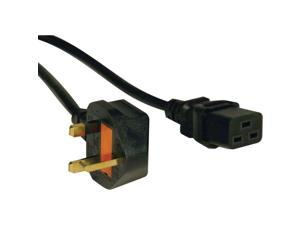 Tripp Lite Model P052-008 8 ft. UK Computer Power Cord, C19 to BS1363, 13A, 250V, 16 AWG, 8 ft. (2.43 m), Black