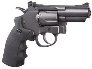 Crosman (Black/ Grey)CO2 Powered Dual Ammo Full Metal Snub Nose Air Revolver