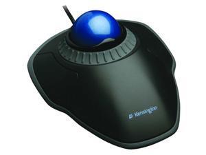 Kensington Corded Trackball Mouse, Optical, Black/Blue, USB Black/Blue  K72337US