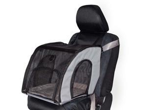 K&H PET PRODUCTS 7660 Gray K&H PET PRODUCTS PET TRAVEL SAFETY CARRIER SMALL GRAY 17 X 16 X 15
