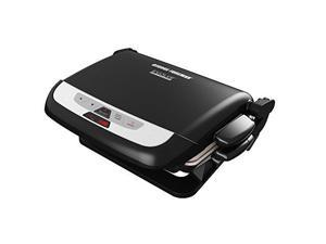 George Foreman 5-Serving Evolve Grill with Waffle Plates And Ceramic Grill Plates, Black GRP4842MB