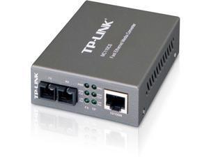 TP-Link Fast Ethernet SFP to RJ45 Fiber Media Converter | Fiber to Ethernet Converter | 10/100Mbps RJ45 Port to 100Base-FX Single-Mode Fiber (MC110CS)